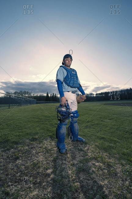Portrait of Baseball Player, Saskatchewan, Canada