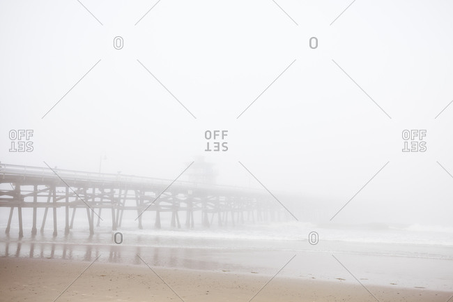 Pier on a foggy morning