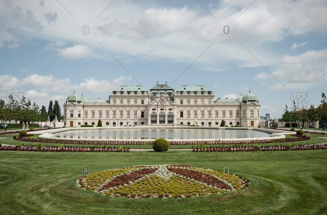 Vienna, Austria - June 10, 2012: The Belvedere Palace and gardens in Vienna