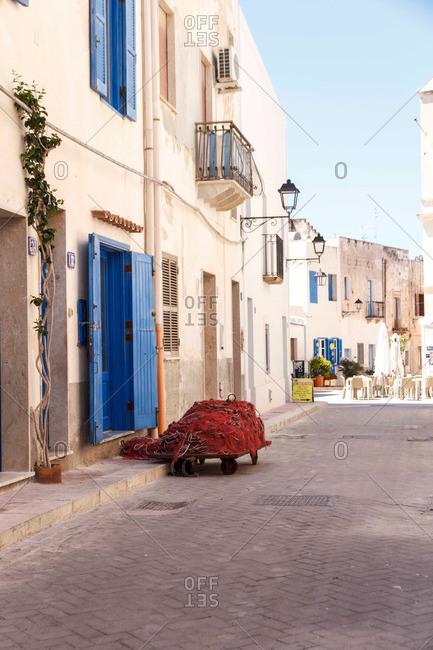 View of a street in a Mediterranean village