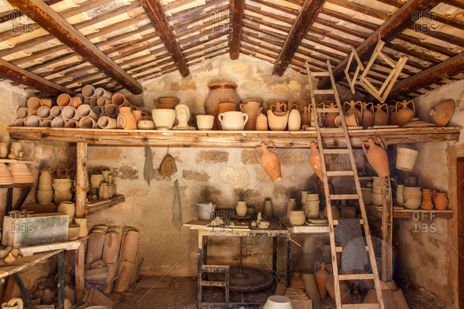 Traditional pottery studio