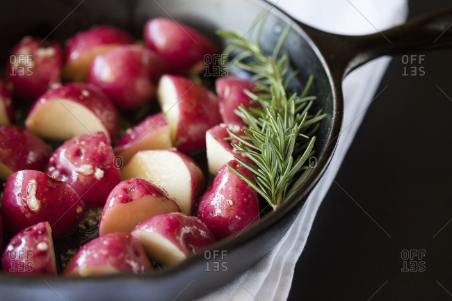 Red potatoes and rosemary