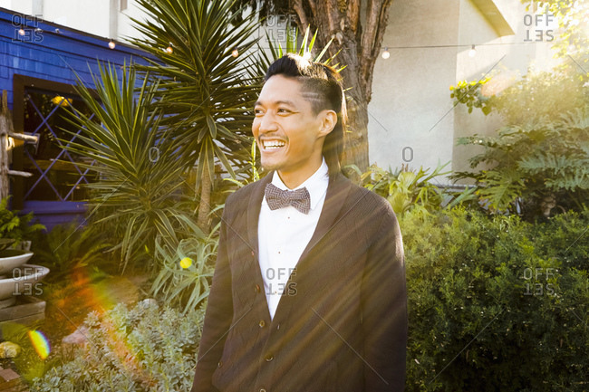 Young man wearing a bowtie