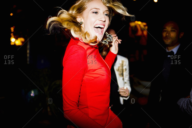 Woman dancing at a party