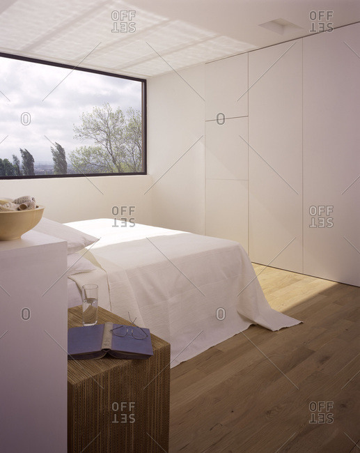 Master bedroom in a modern house in Wimbledon, London