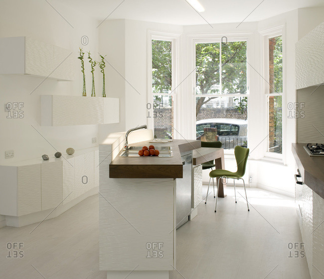 Kitchen in a modern townhouse in London