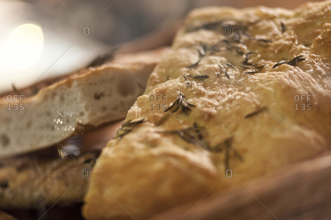 Breads at a restaurant in London, England