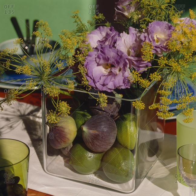 Floral arrangement at Christmastime