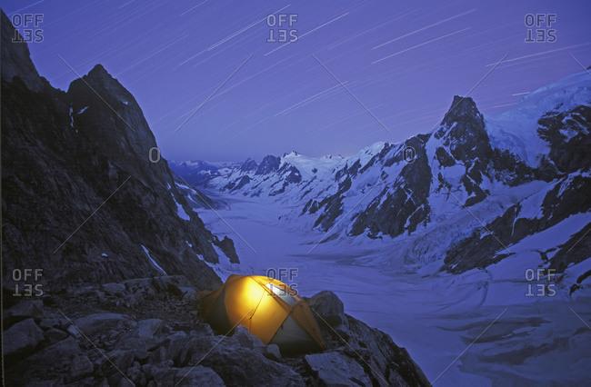 Camping, Waddington Range, Bc, Canada