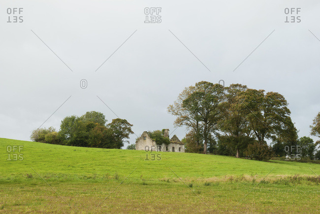 Lone house in a rural area, Ireland