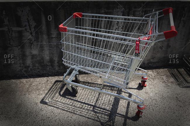 A metal shopping cart, Gold Coast, Queensland, Australia
