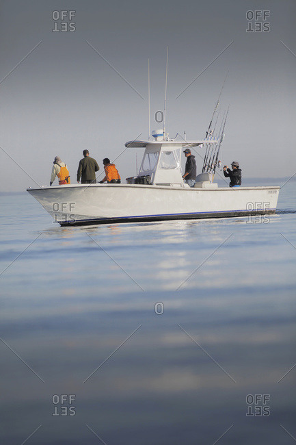 Fishing boat in cape cod bay, Cape Cod, Massachusetts, United States Of America