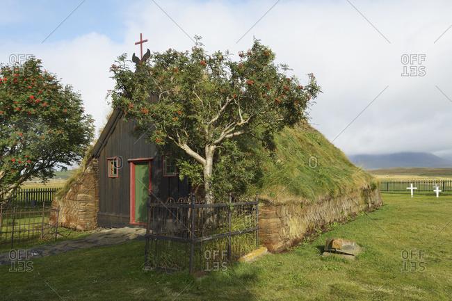 Turf Chapel, Skagafjordur, Vidimyri, Iceland