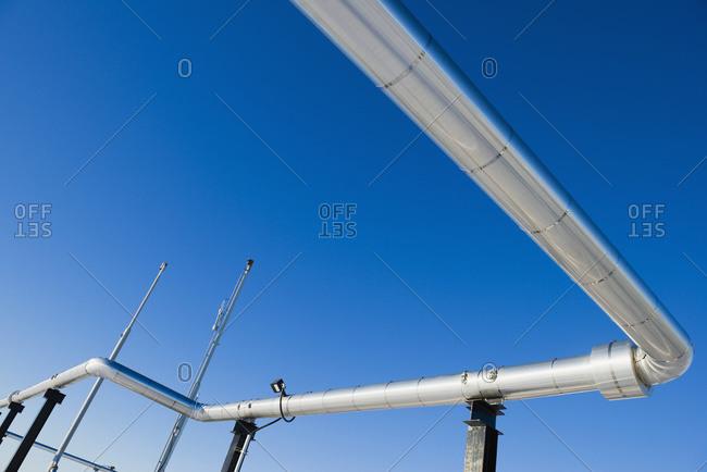 Oil And Gas Pipeline, Morinville, Alberta, Canada