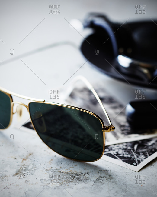 Aviator sunglasses and photographs