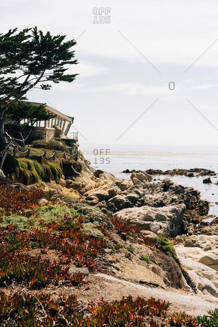 House on the coast of California
