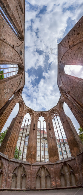 View to ruins of Franciscan monastery, Berlin