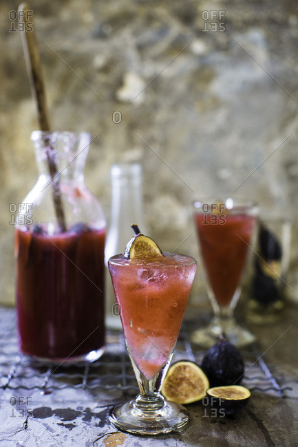 Black fig shrub cocktail