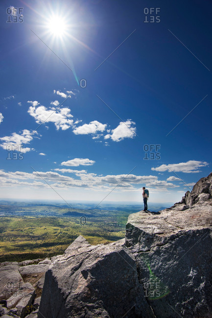 Woman taking in the view on Mt Monadnock