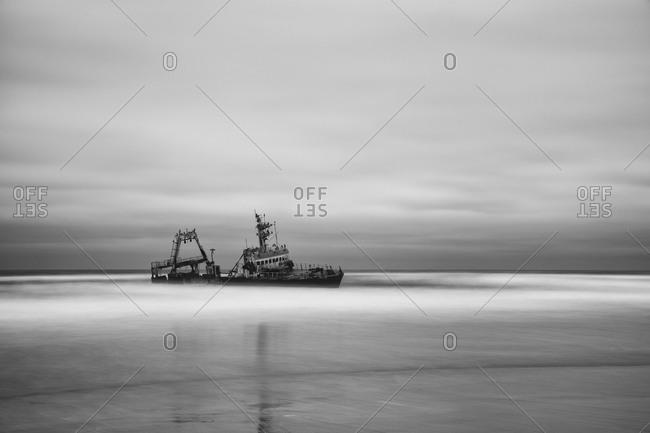 Ship wreck on Namibian coast