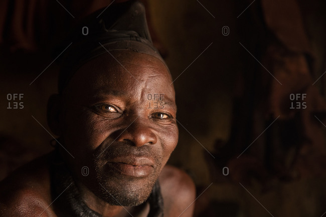 Portrait of Namibian Himba man