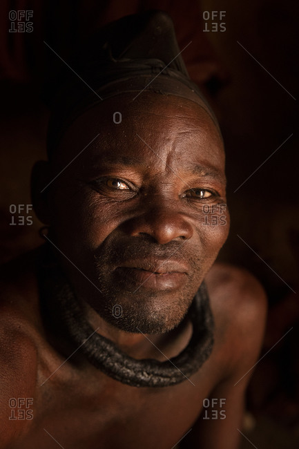 Portrait of Namibian Himba male adult