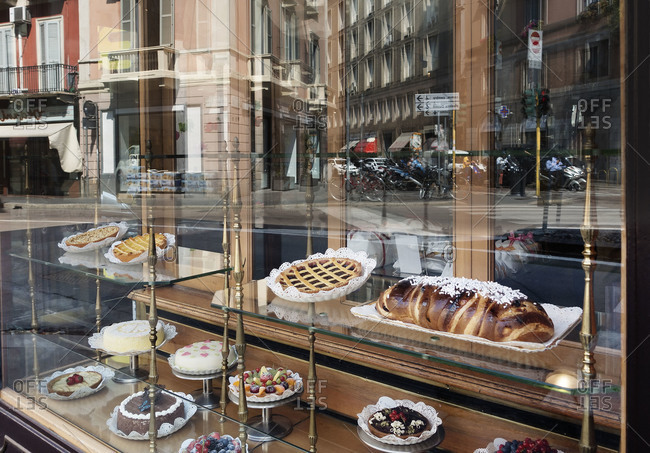 Milan, Italy - June 11, 2015: A bakery in Corso Magenta, Milan