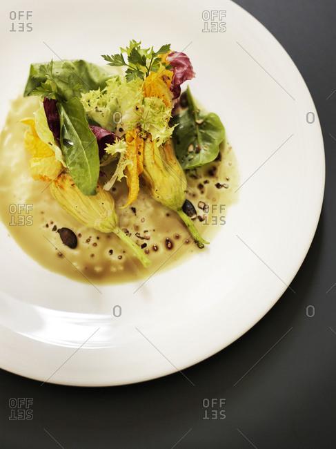 Fine dining presentation in Slovenia