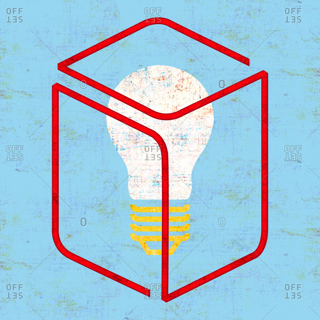 Light bulb in a suggestion box