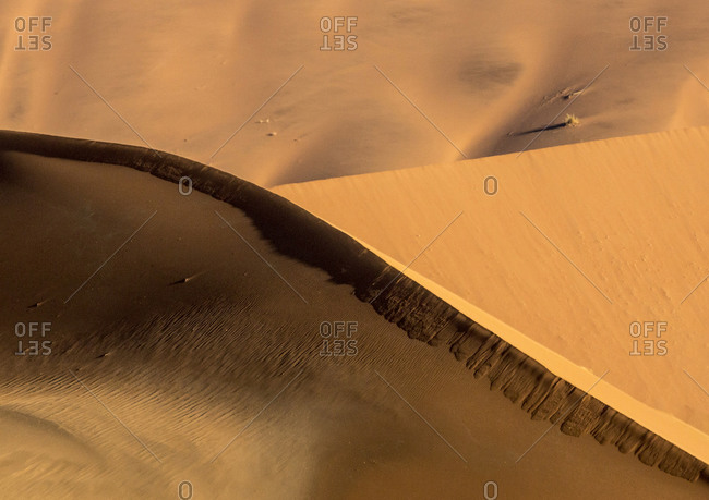 Abstract of side-lit sand dunes
