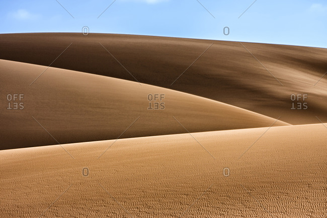 Artistic shot of sand dunes