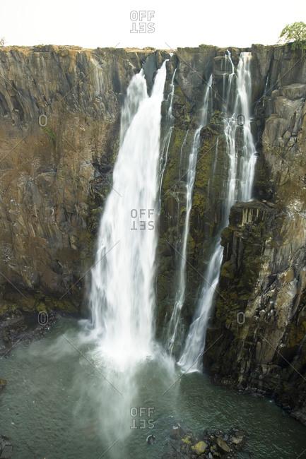 Small segment of Victoria Falls, Africa