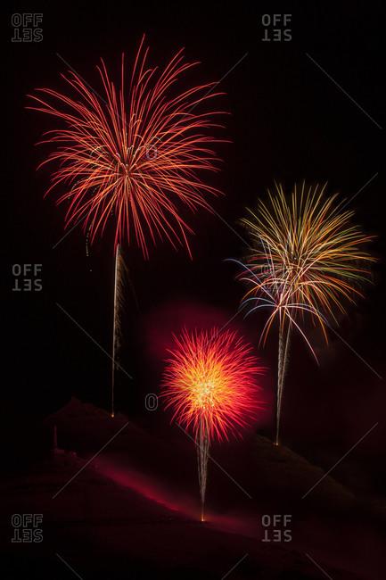 July 4th fireworks display, Salida