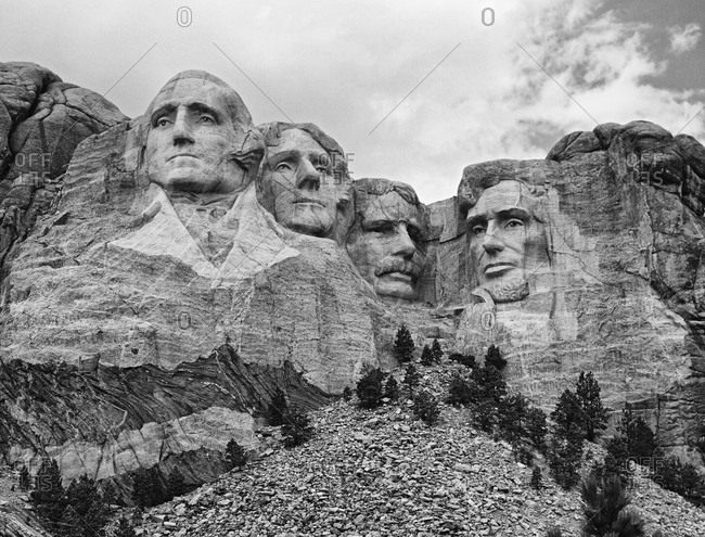 Sculptures of US presidents, Mount Rushmore National Park