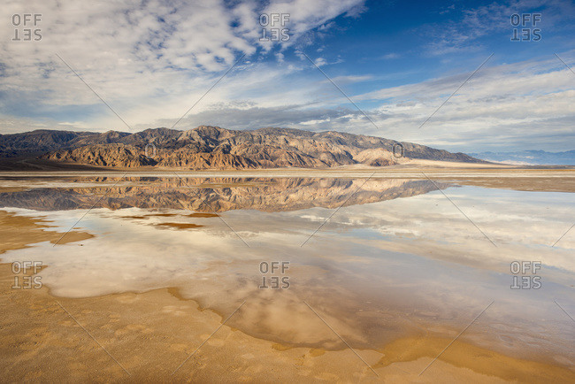 Salt flats and Panamint Mountains, Death Valley National Park, California, United States of America