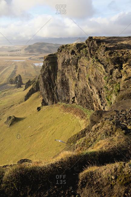 Lunar landscape and topography, near Vik, Iceland