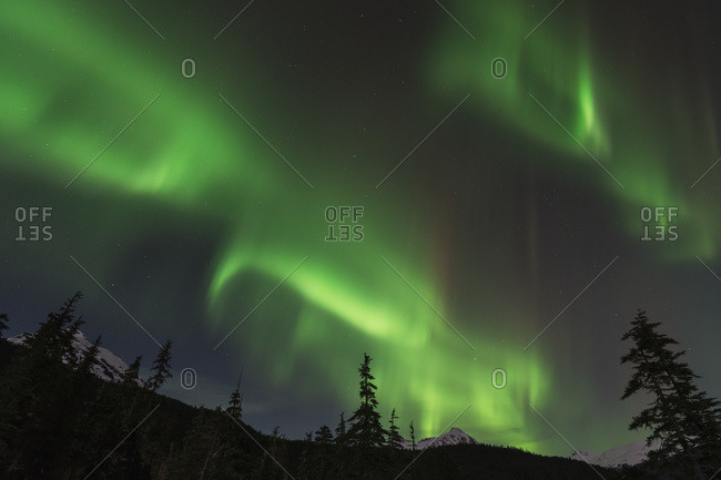 Northern Lights, Tongass National Forest, Juneau, Alaska, United States of America