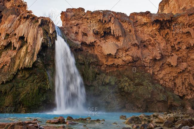 Havasu Falls, Havasupai Indian reservation, Grand Canyon, Arizona, United States of America