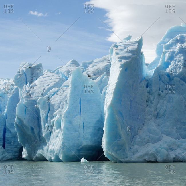 Grey Lake and Grey Glacier, Torres del Paine National Park, Torres del Paine, Magallanes and Antarctica Chilean Region, Chile