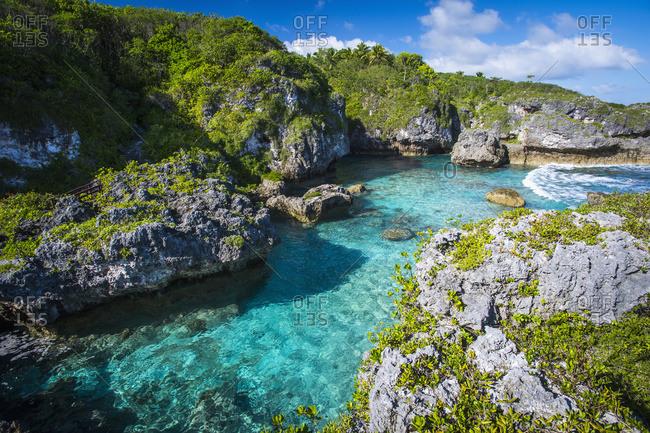 A popular swimming spot on Niue Island, Niue