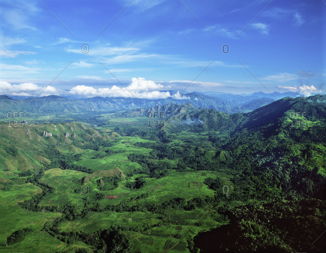 Aerial view of the Highlands, Papua New Guinea