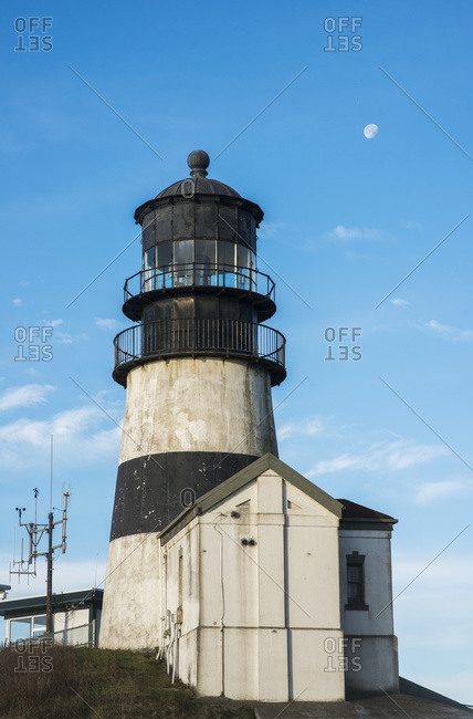 Cape Disappointment Lighthouse, marking the mouth of the Columbia River, Ilwaco, Washington, United States of America