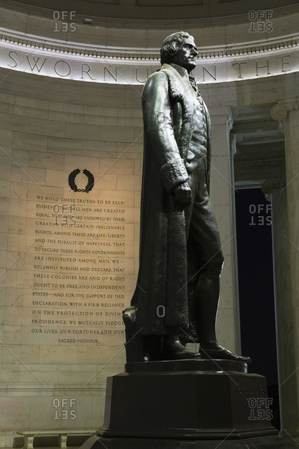 Washington, District of Columbia, United States of America - May 11, 2014: Interior of Thomas Jefferson Memorial, Washington, District of Columbia, United States of America