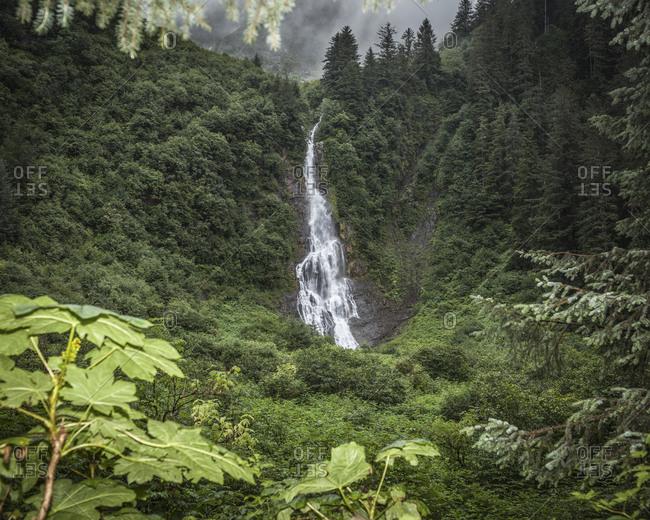 Indian River waterfall in Sitka, Alaska