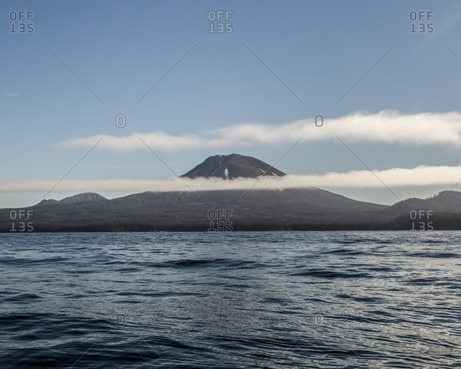 View of Mount Edgecumbe from Sitka, Alaska