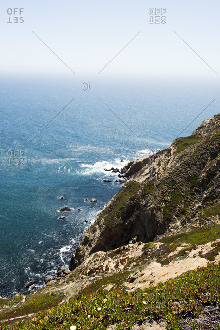 Rocky cliffs at Point Reyes, California