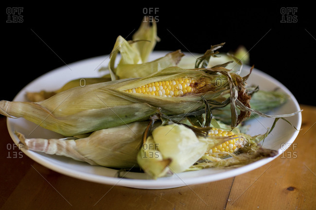 Roasted corn is a sweet summer delicacy