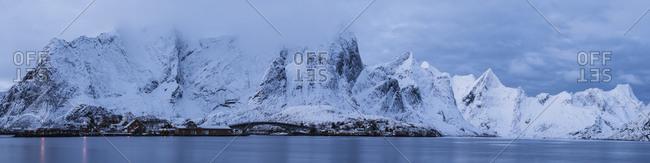 Winter view of Reine area, Lofoten Islands, Norway