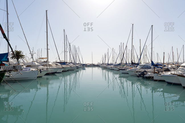 Boats in a marina on the French Riviera