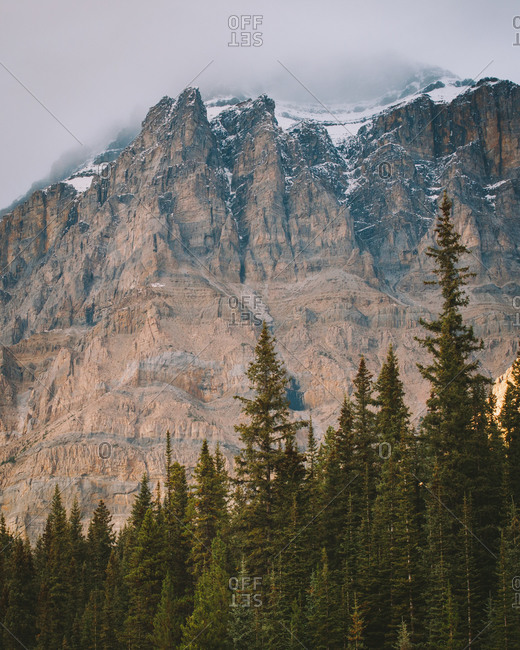 Rocky peaks in Banff National Park, Canada